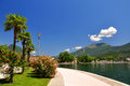 The city of riva del garda situated in northern part largest italian lake lago di Royalty Free Stock Photography