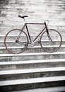 City road bicycle on stairs, vintage style Royalty Free Stock Photography