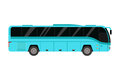 City road bus transport vector illustration.