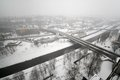 City roads and in the winter ostrava czech republic Royalty Free Stock Photos