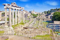 City Rome. Roman Forum Stock Photography