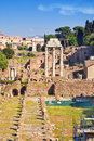 City Rome. Roman Forum Stock Photos