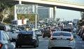City rush hour traffic jam Royalty Free Stock Photo