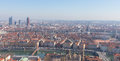 City scape of Lyon, France at sunny day Royalty Free Stock Photo