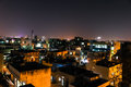 City scape at night time Royalty Free Stock Photo