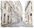 City scape watercolor illustration of Royalty Free Stock Images