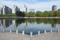 City scenery the landscape of lontan park in taiyuan china Stock Image