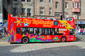 City sightseeing bus in Edinburgh. Royalty Free Stock Photo