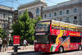 City sightseeing service in Milan Stock Photos