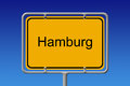 City sign hamburg illustration of a german limit of the of Royalty Free Stock Image