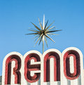 city sign of Reno Royalty Free Stock Photo