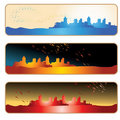 City silhouette banner Stock Photos