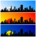 City silhouette. Vector Stock Image