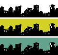 City silhouette vector illustration of the Stock Photography