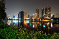 City skyline at night. Bangkok Thailand. Stock Image