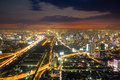 City skyline in night ,Bangkok,Thailand Royalty Free Stock Photo