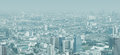 City skyline through the thick smog panorama of modern Royalty Free Stock Image