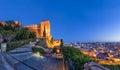 City skyline and walls of Alcazaba fortress in Almeria Royalty Free Stock Photo