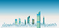 City skylines background vector illustration. flat city building