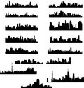 City skylines collection vector illustration Stock Photo