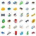 City space icons set, isometric style Royalty Free Stock Photo