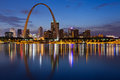 City of St. Louis skyline. Royalty Free Stock Photos