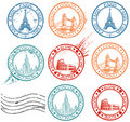 City stamps collection Stock Image