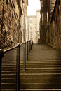 City steps Edinburgh Scotland Royalty Free Stock Photo