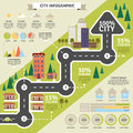 City structure and statistic flat infographic building district weather or other vector illustration Royalty Free Stock Photography