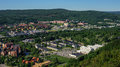 The city of sundsvall sweden from a high point Stock Image