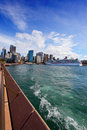 City of sydney circular quay harbour and the rocks australia september view with carnival spirit docked on west side Stock Photo