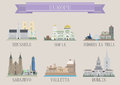 City symbol europe vector set for you design Royalty Free Stock Images