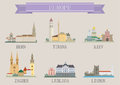 City symbol europe vector set for you design Stock Photography