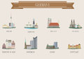 City symbol germany set for you design Stock Photography