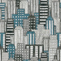 City texture illustration of a hand drawn cityscape background seamlessly repeatable Stock Photos