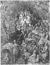 A city thoroughfare picture from gustave dore s london pilgrimage illustrated book published in london uk Stock Image