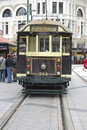 City tour tram a in christchurch new zealand Stock Image