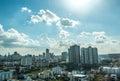 City tower blue sky in bangkok thailand Stock Photography