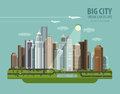 City, town, megapolis vector logo design template Royalty Free Stock Photo