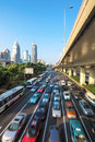 City traffic in morning Stock Photography