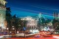City traffic at night Royalty Free Stock Photo