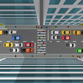City Traffic Top View Royalty Free Stock Photo