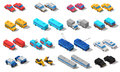 City Transport Isometric Icons Set Royalty Free Stock Photo