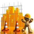 City under construction funny 3d icon Royalty Free Stock Image