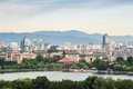 City view of beijing from jingshan park Stock Image