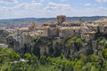 City view of cuenca with houses on a cliff in spain Stock Images