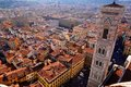 City view of florence italy taken on top the dome Stock Photo