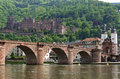 City view of heidelberg with bridge and castle germany one the tourist attractions this holiday resort is the old over the river Royalty Free Stock Images