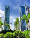 City view of klcc district in kuala lumpur Stock Photos