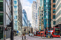 City View of London around Liverpool Street station Royalty Free Stock Photo